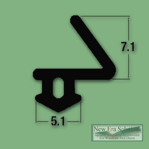 PVC De Porte Et Fenêtre Joint tirant chasse-Proofing Caoutchouc Noir De Remplacement Sceau
