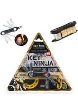 SMART KEY HOLDER NINJA compatto Organizer Portachiavi Torcia Luce LED Apribottiglie
