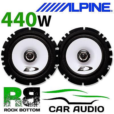 """ALPINE OPEL OMEGA 1994-2003 6.5"""" 16cm 2 Way 440W Car Coaxial Front Door Speakers"""