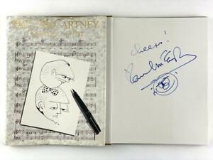 PAUL MCCARTNEY SIGNED AUTOGRAPH BOOK W/ HAND-DRAWN ORIGINAL ART SKETCH BEATLES