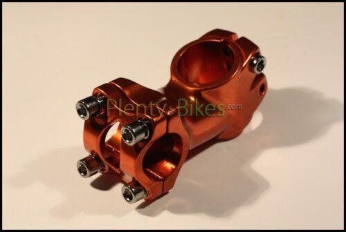 //-30 Degree 60mm Threadless Alloy Handlebar Stem 832114 Orange 25.4 Bike Fixie