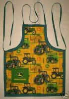 John Deer Barbeque Set With Apron Oven Mitt And Towel