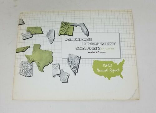 1961 American Investment Company Annual Report Shareholders Financial Statement