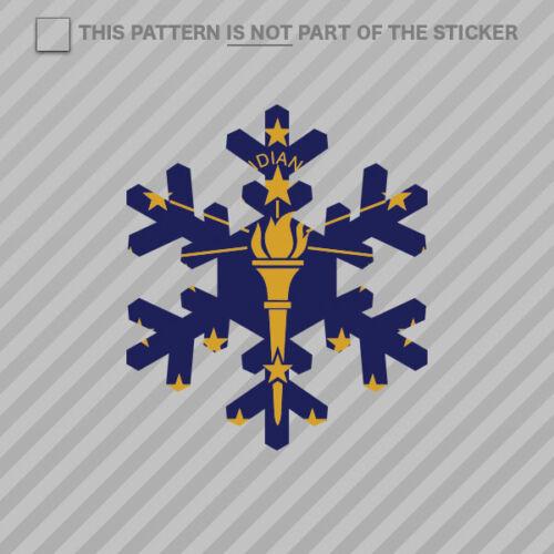 Indiana Snowflake Sticker Vinyl IN snow flake snowboard skiing skii