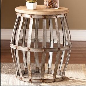 Image Is Loading Rustic Side Table Furniture Living Room Industrial Wood