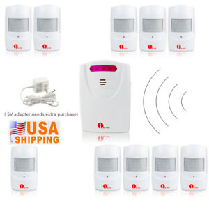 1byone-1000ft-Wireless-Driveway-Alarm-System-Alert-Infrared-Sensor-Home-Security