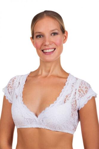 Dirndlbluse Leonie  Bluse weiße spitzen Dirndlbluse passend zu vielen Dirndln