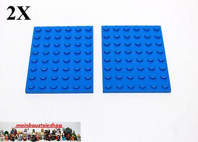 LEGO 1x Platte Grundplatte Bauplatte Baustein 6x8 Noppen blau 3036