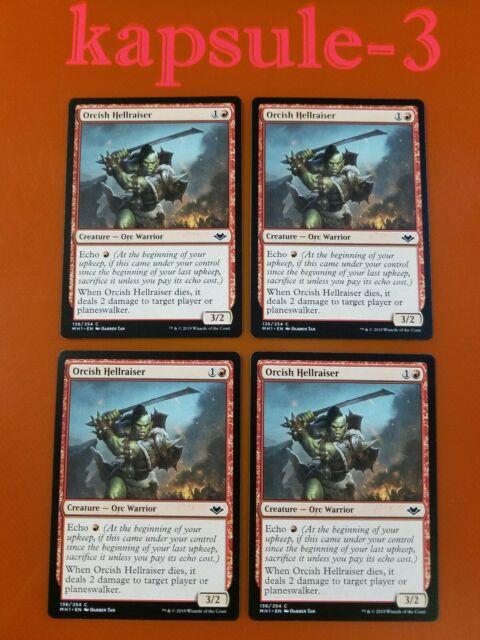 4x orcish hellraiser  modern horizons  mtg magic cards