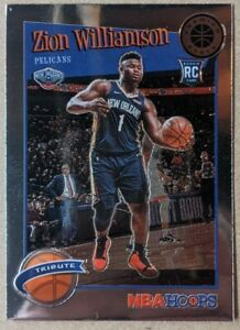Zion-Williamson-CHROME-ROOKIE-CARD-2019-20-NBA-Hoops-Premium-Stock-296-MINT