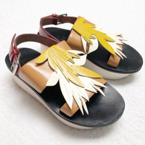 Marni Platform Sandals  EUR 35 US Size 5 Leather w