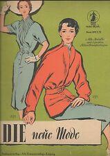 DIE neue Mode,  Heft 1003, komplett mit Schnittmusterbögen, Original 50er Jahre