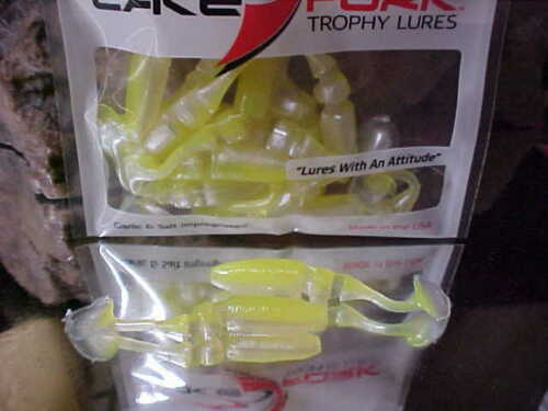 """Lake Fork 2 1//4/"""" LFT Boot Tail Baby Shad Model 2700-145 in CHARTRUSE PEARL"""