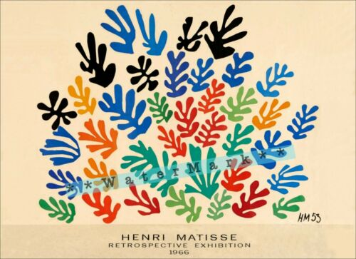 Cutouts 1966 Matisse Art Vintage Poster Print Retro Style Home Wall Decoration