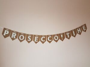 PROSECCO-TIME-Bunting-Party-Banner-Adult-Birthday-Decoration-Banner-Wine-time