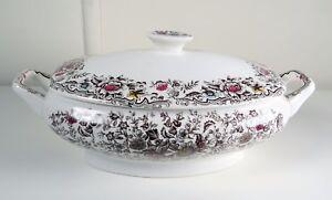 Cesol-Made-in-Portugal-Porcelain-Vegetable-Bowl-w-lid-Floral-Pattern