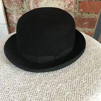 Vintage Men's Black Derby Bowler Hat Bonar-Phelps
