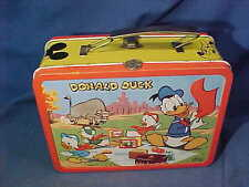 1950s DISNEY Metal MICKEY MOUSE + DONALD DUCK LUNCHBOX Extra Clean