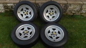 Ferrari 308 Gtb 308gt4 Mondial Metric Alloy Wheels Cromodora Speedline Ebay