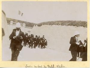 Tunisie-Bizerte-sortie-du-fort-du-Djebel-Kebir-armee-coloniale-Francaise-Vint