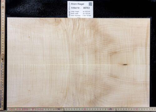 Tonewood Euro Ahorn Riegel Maple 55x18x 1,0 cm Aufleimer Guitar Tonholz Droptop