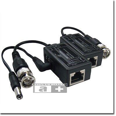 CAT5 BNC To RJ45 Converter Video Balun for CCTV - Power ,video, audio,PTZ Camera