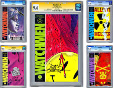 WATCHMEN #1-12 CGC NM <> ISSUES #1-4-9 SIGNED BY ARTIST DAVE GIBBONS <> 1986