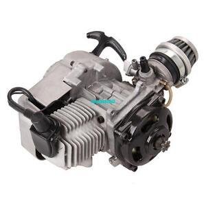 Motore-49CC-Dirt-Bike-Cross-Pocketbike-Mini-marcia-carburatore-NUOVO