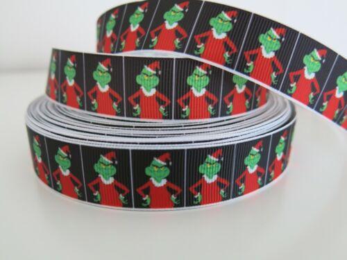 Christmas Grosgrain Ribbon Dummy Hair Clips Cake Craft Hair Bow 1 Meter 22//25mm