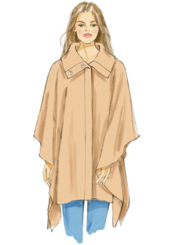 Schnittmuster Cape`s 2 XS-M ; Gr