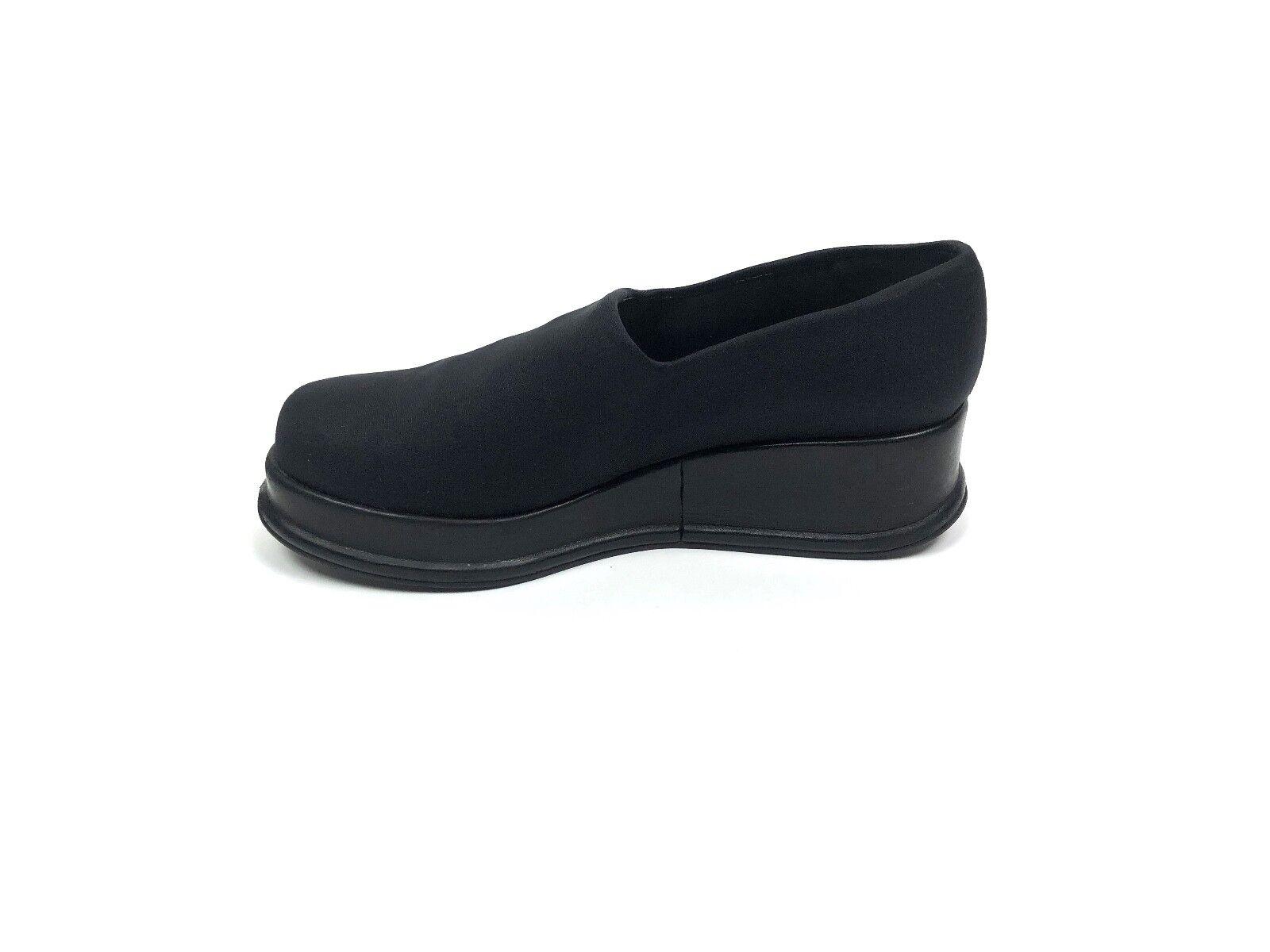 Robert Clergerie Satin Wedge Heel Platform Slip-On Schuhes Größe 8 1/2