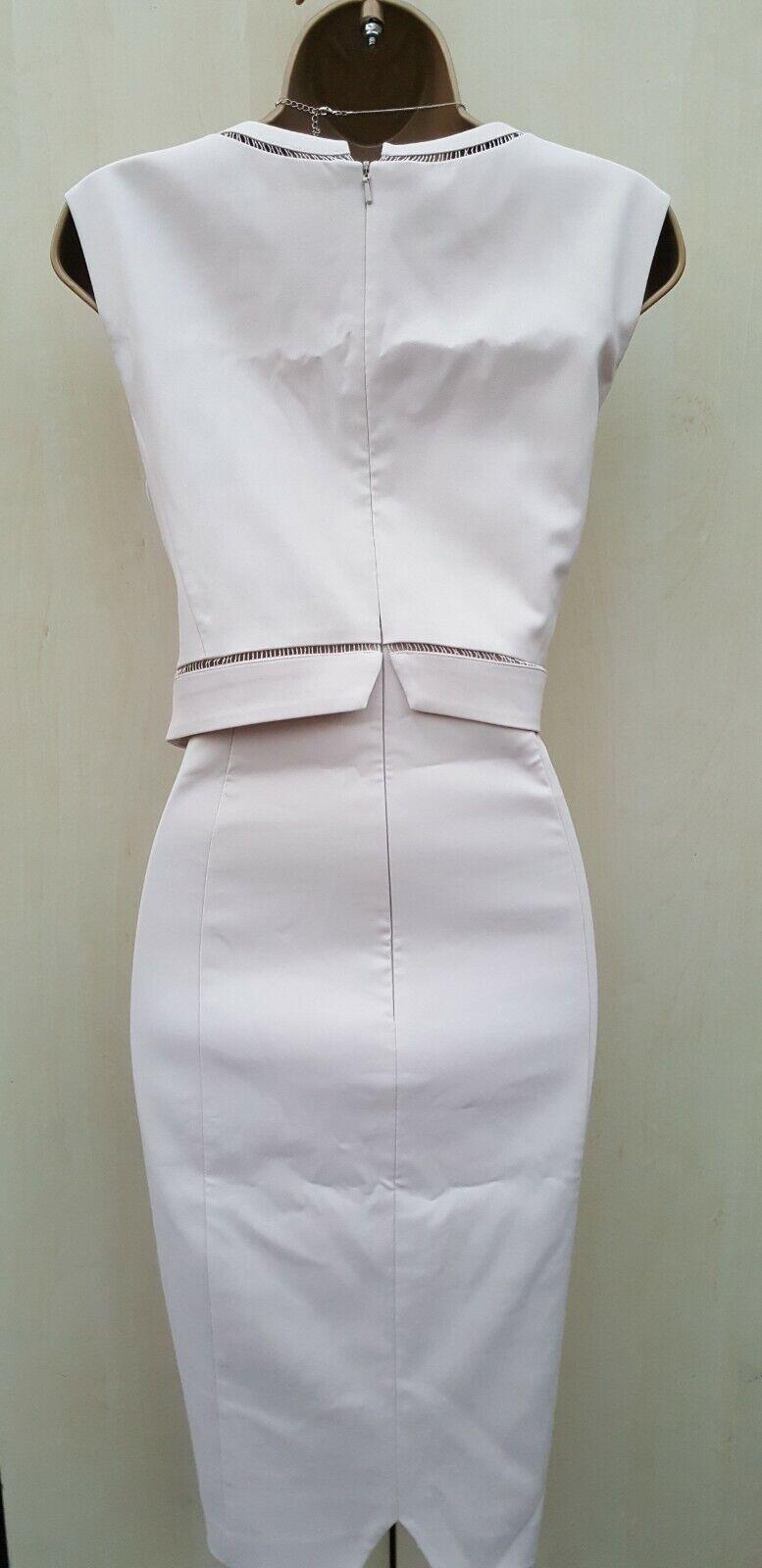 Size 10 UK Stunning Phase Eight Cream Beige Beige Beige Pencil Dress Wedding Occasion Party 808dc4