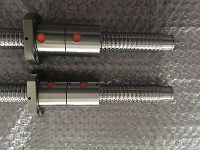 2 set Anti Backlash Ball Lead screw RM2505-1500mm-C7+Dual Ball nut+end machine