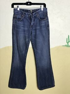 7-Seven-For-All-Mankind-Women-039-s-Jeans-Size-27-A-Pocket-Boot-Cut-Blue