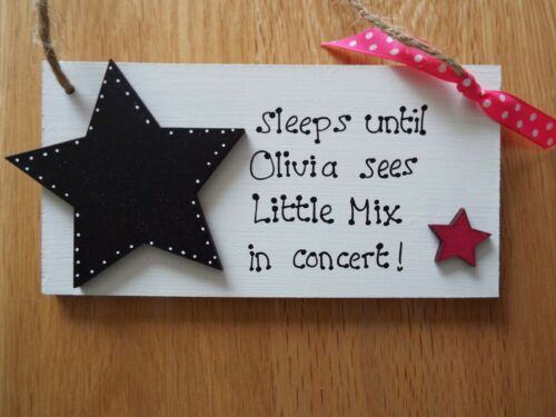 Concert Countdown sign ANY NAME pop concert countdown plaque Personalised