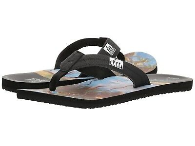 Men Reef HT Flip Flop Sandal RF002176 Black Synthetic 100/% Authentic Brand New