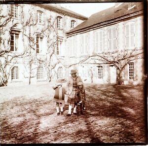Photo de Famille ca 1930, Photo Stereo Vintage Plaque Verre VR3L8n6