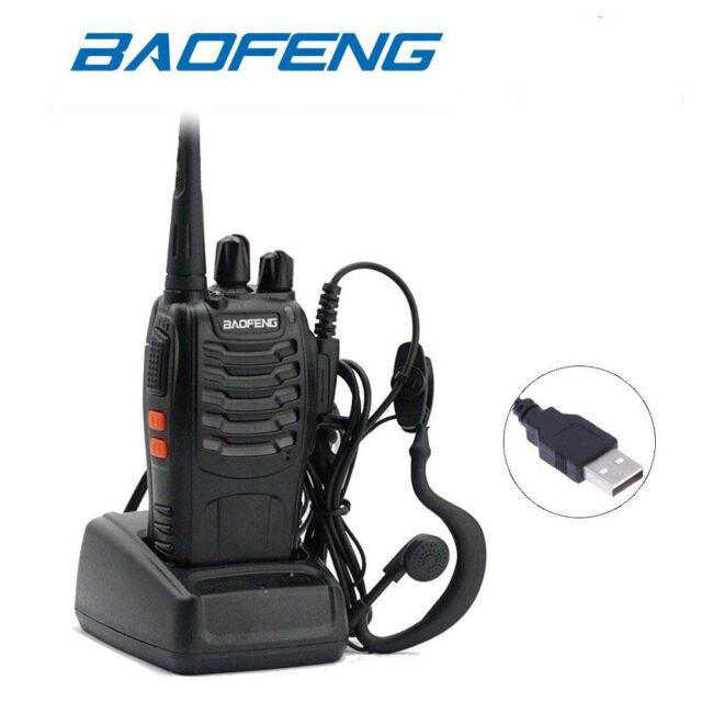 BaoFeng Walkie Talkie BF-888S UHF 400-470MHZ 2-Way Radio 16CH Long Range DD