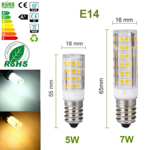 Sparlampe Mais Licht E14 LED 5W 7W Glühbirne Warmweiß Kaltweiß 2835 SMD A
