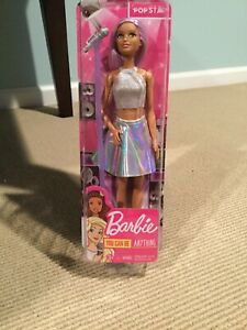 NIB-BARBIE-You-Can-Be-Anything-POP-STAR-Doll-and-Microphone-FAST-SHIP