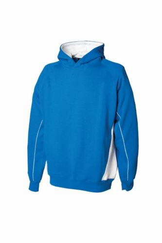 Finden /& Hales Kids Contrast Hooded Sweatshirt Drawcord Hoodie Lined And New