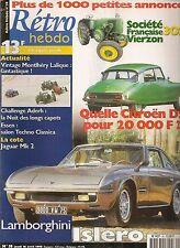 RETRO HEBDO 58 LAMBORGHINI ISLERO 400 gts 1969 CITROEN DS ESSAI TRACTEUR