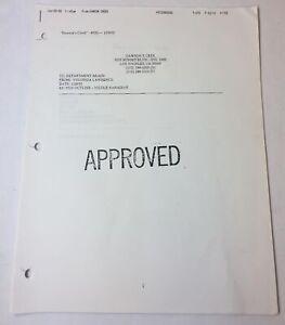 DAWSON-039-S-CREEK-set-used-paperwork-EPISODE-OUTLINE-Season-5-Episode-20