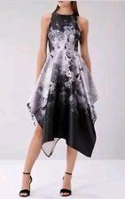f0c7a3fadb3c BNWT Coast Size 12 Black Silver Mahonia Jacquard Midi Dress Multi Wedding,  New