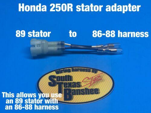 Honda TRX 250R stator adapter  *adapts 89 harness to 86 87 88 stator*