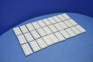 LEGO 30 x Plaque De Base 2x4 Blanc White Basic plate 3020 302001  </span>