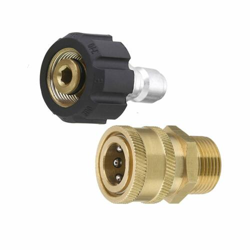 Pressure Washer Adapter Quick Connect Kit Metric M22 15mm Female Swivel to M22