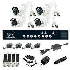 MX CCTV Camera Kit 4 Channel Analog System w/ Analog Camera DVR BNC DC pin -Set8
