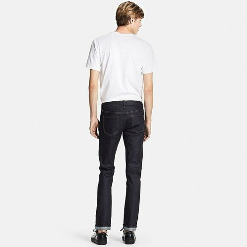 Stretch Jeans Fit Tapered X Pants Selvedge Men's Skinny 34l White Uniqlo 31w Nwt XNPOk0Z8nw