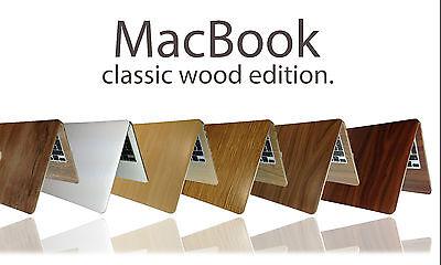 "Textured Wood Skin Sticker For MacBook Air Pro 11"" 13"" 15"" 17"" Retina Wrap Decal"